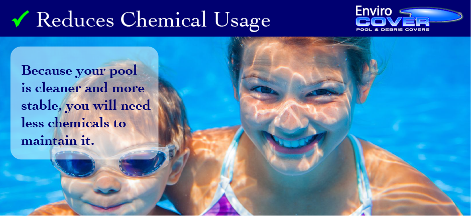 another reason to buy a pool cover - reduce chemical usage