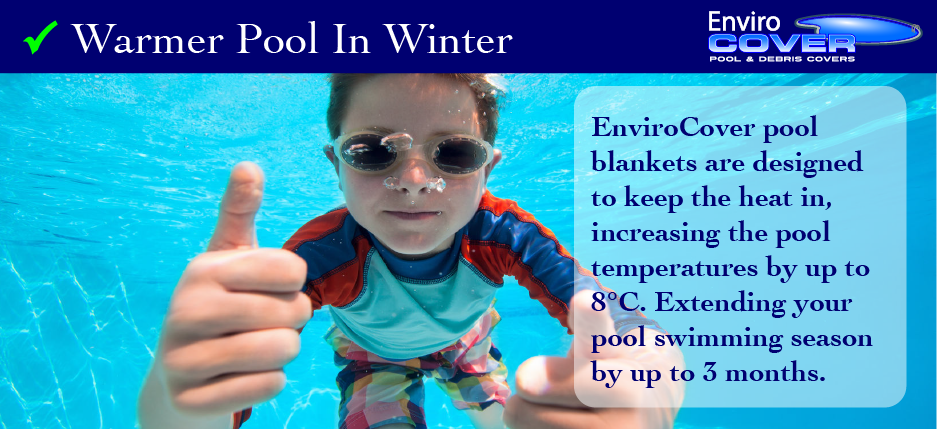 another reason to buy a pool cover - extend the swimming season