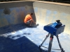 Measuring a pool with our 3D measuring equipment 4