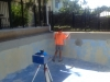 Measuring a pool with our 3D measuring equipment 5