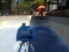 Measuring a pool with our 3D measuring equipment 7