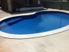 completed inground pool liner