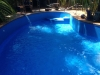 completed inground pool liner, almost ready to use