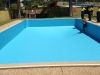 Swimming Pool Liner in place ready to fill