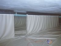 Reclaim unused building cavity areas for water storage with a void and cavity liner