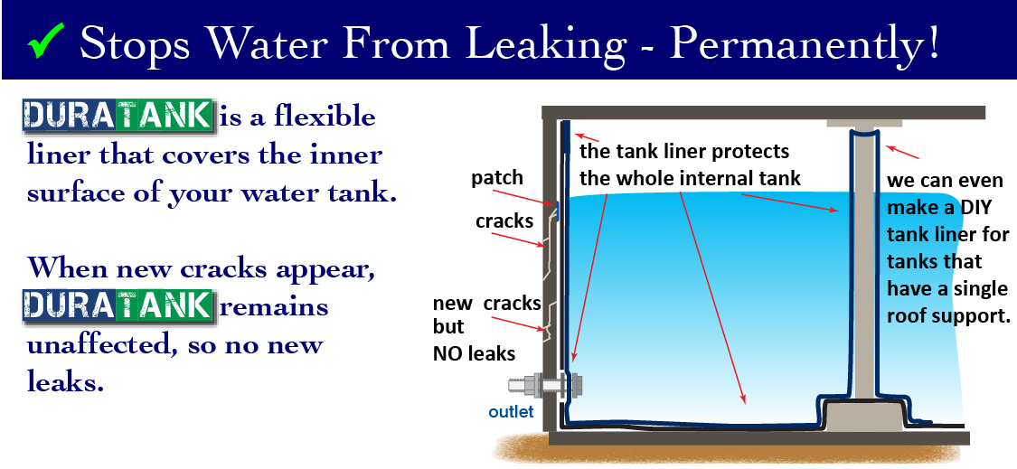 why patch when you can permanently stop leaks with a DURATANK water tank liner