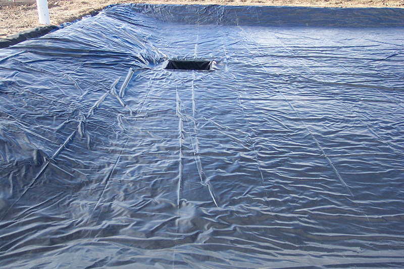 image showing secondary containment liner with sump