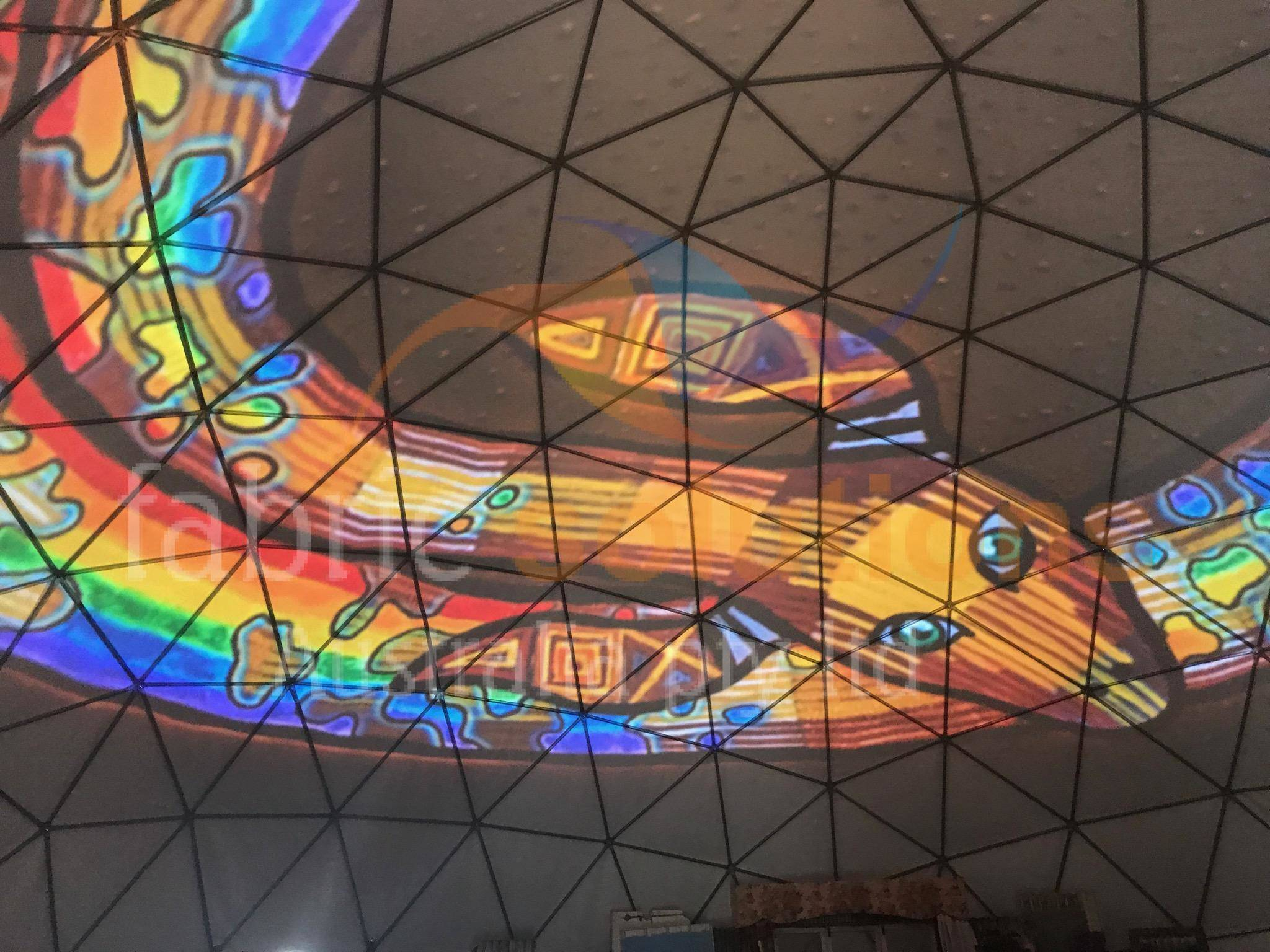 inside the geodesic dome for Brisbane Writers Festival, 2017