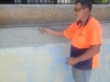 Measuring a pool with our 3D measuring equipment 6