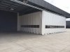 retractable  industrial weather curtain at approx 12-m x 9m