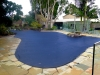 Dark Blue debris pool cover for odd shaped pool 2