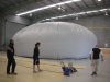 Tank liner inflated for final QA test