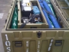 Military bladder packed into its storage crate