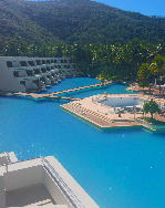 image of the iconic Hayman Island one and only swimming pool that we refurbished in 2016. It is the largest swimming pool in the southern hemisphere
