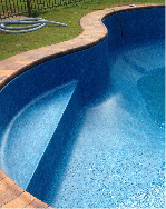 image of a complex swimming pools showing how well we customise the fit of the pool liner