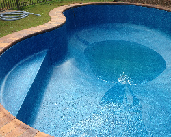 image of a complex pool with a custom fitted pool liner