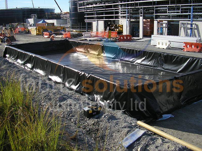 image showing secondary containment liner at a building site