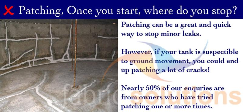 image showing why sometimes patching a water tank is an ineffective and costly way to stop leaks