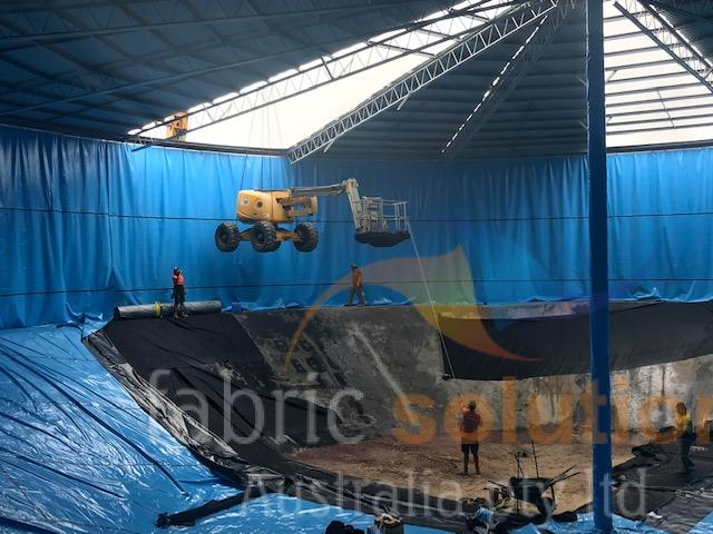installing a commercial tank liner